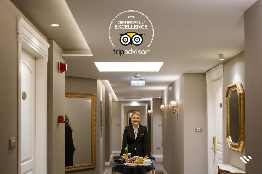 Το ξενοδοχείο Mediterranean Palace βραβεύτηκε για άλλη μια χρονιά με το πιστοποιητικό διάκρισης του Tripadvisor 2019